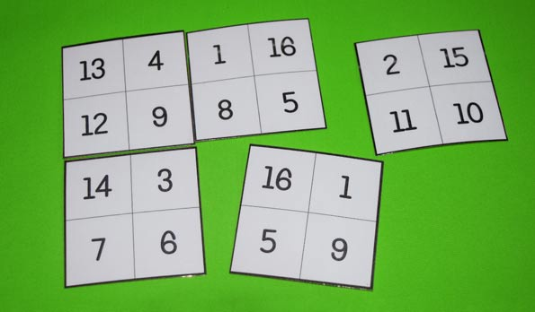 4 by 4 magic square puzzles