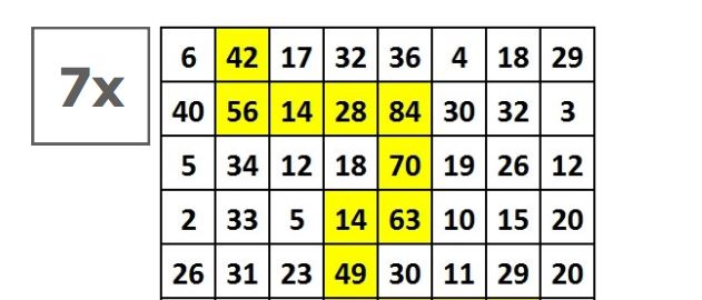 Times Tables Routes | mathsticks.com