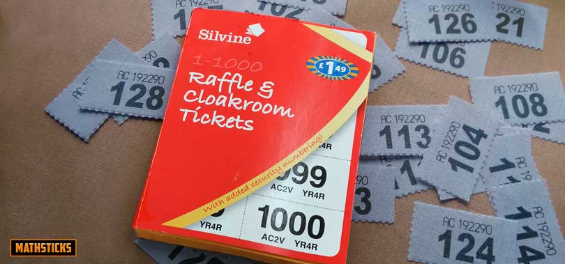 Pound Store Maths Raffle Ticket Challenge On Arrival  MathsticksCom